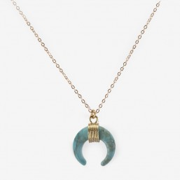 Moon pendant or double horn pendant necklace by CHORANGE