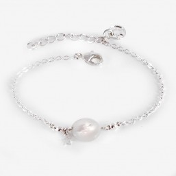 Chain bracelet size 15cm + extention this fashion jewellery is plated with fin gold 24 cts or silver 925/1000