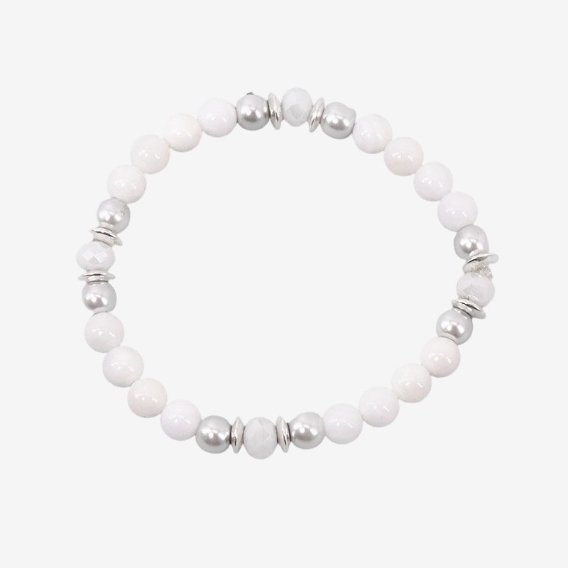 This stretch bracelet is plated with silver 925/1000 Our jewels are nickel free