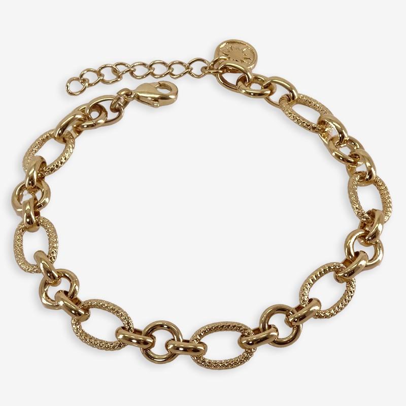 bracelet chaine doree fantaisie CHORANGE créateur de bijoux