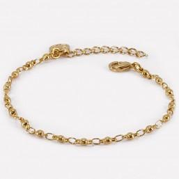 bracelet chaîne à boule métal doré Chorange
