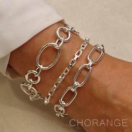 Adjustable bracelet Chorange, parisian jewelry made in France