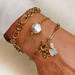 chorange fashion jewellery bracelet with chain plated gold