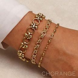 bracelet Chorange bijoux de createur en métal doré