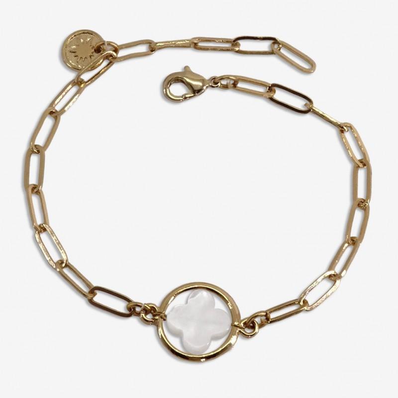 bracelet nacre et métal CHORANGE