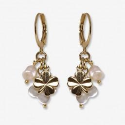 boucle d'oreille pampilles en nacre Chorange créateur de bijoux fantaisie