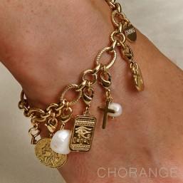 bracelet avec pampilles et charms metal Chorange bijoux fantaisie
