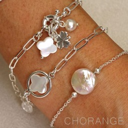 bracelet with keishi shell Chorange jewels
