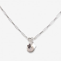 necklace with mother of pearl and métal by chorange jewellery's