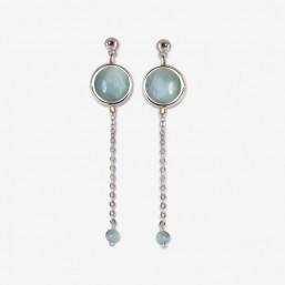 boucle d'oreille fantaisie chorange créateur bijoux fantaisie argent et pierre semi précieuse