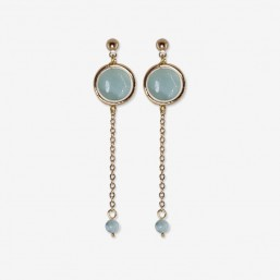 earring with chain pendant and amazonite gemstone Chorange fashion jewel