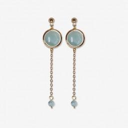 earring with chain pendant and amazonite gemstone Chorange fashion jewel