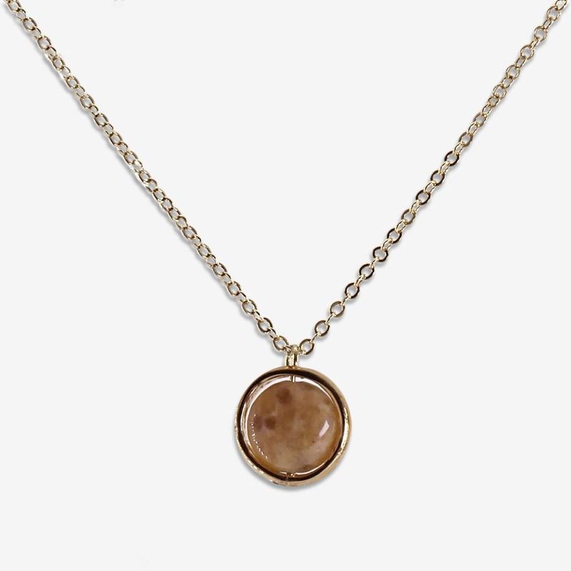 collier tour de cou or avec jaspe fantaisie Chorange