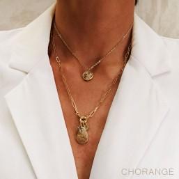 collier tour de cou avec pierre fine fantaisie Chorange
