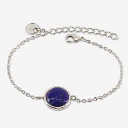 Bracelet plaqué argent  par Chorange créateur de bijoux fantaisie avec lapis lazuli