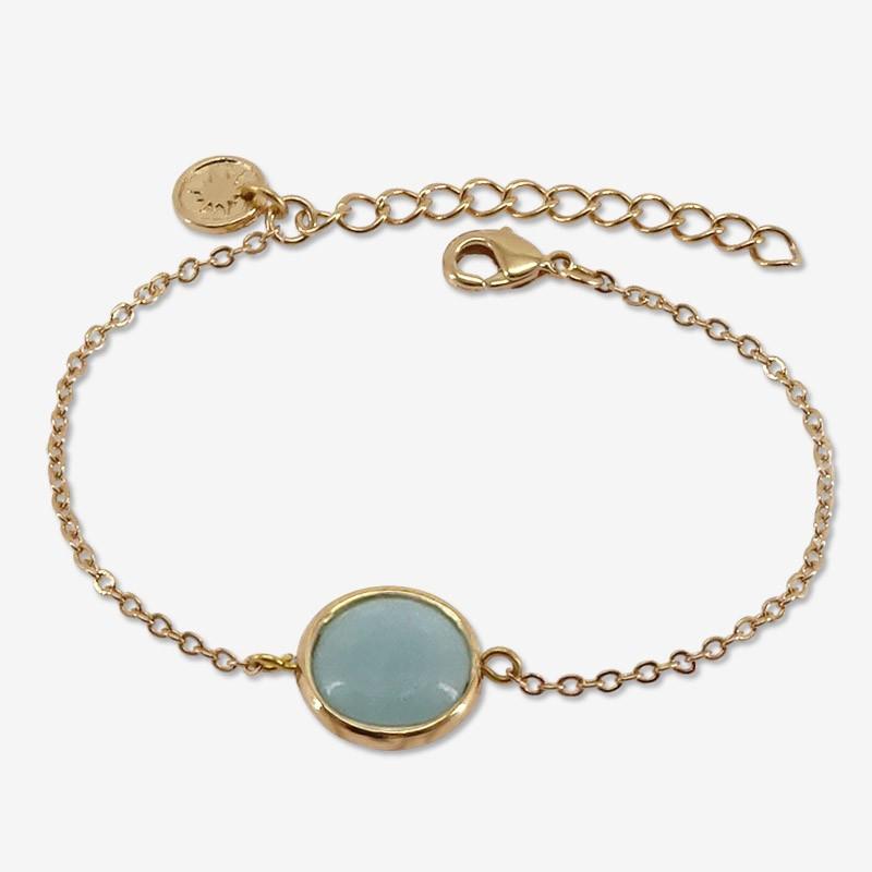 Bracelet amazonite plaqué or par Chorange créateur de bijoux fantaisie