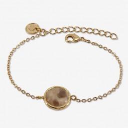 bracelet créateur fantaisie en or et jasper
