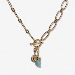 DINO Necklace with gemstone...