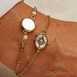 bracelets gold plated with MOP by Chorange parisian designer