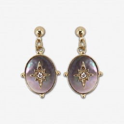 earring mother of pearl by Chorange french designer of fashion jewelry