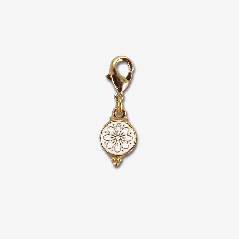 chams fantaisie nacre plaqué or fin 24 cts
