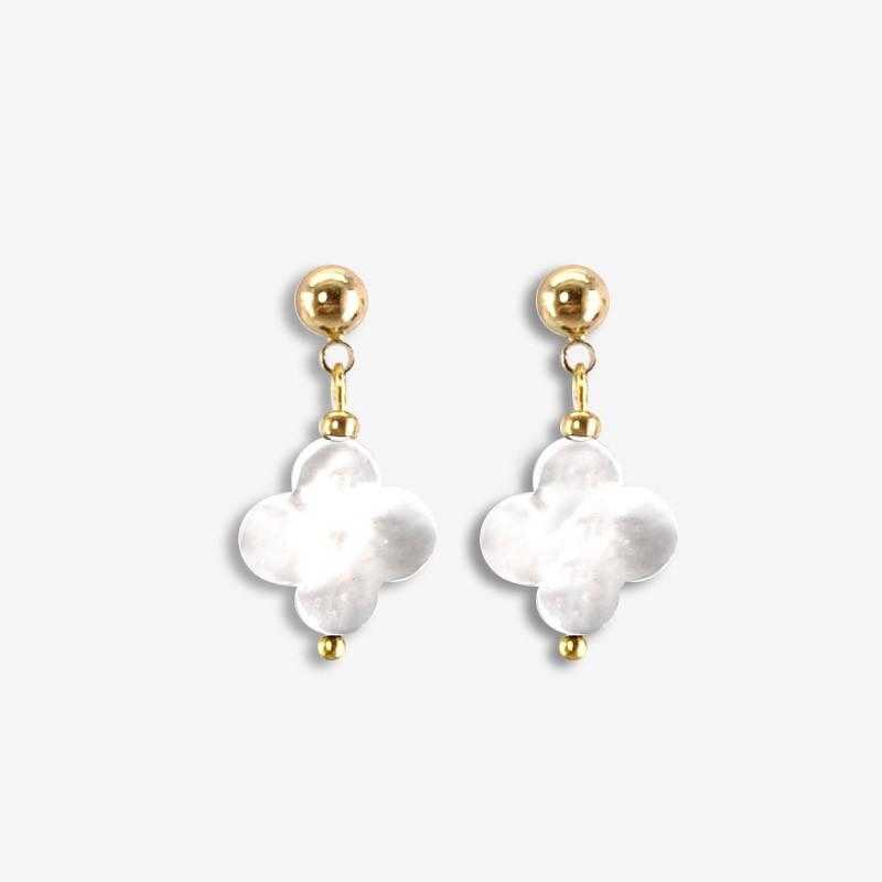 Boucles d'oreilles, nacre noire, argent 10µ, Sans Nickel. Fabriquées en France. Chorange Créateur Bijoux Fantaisie.