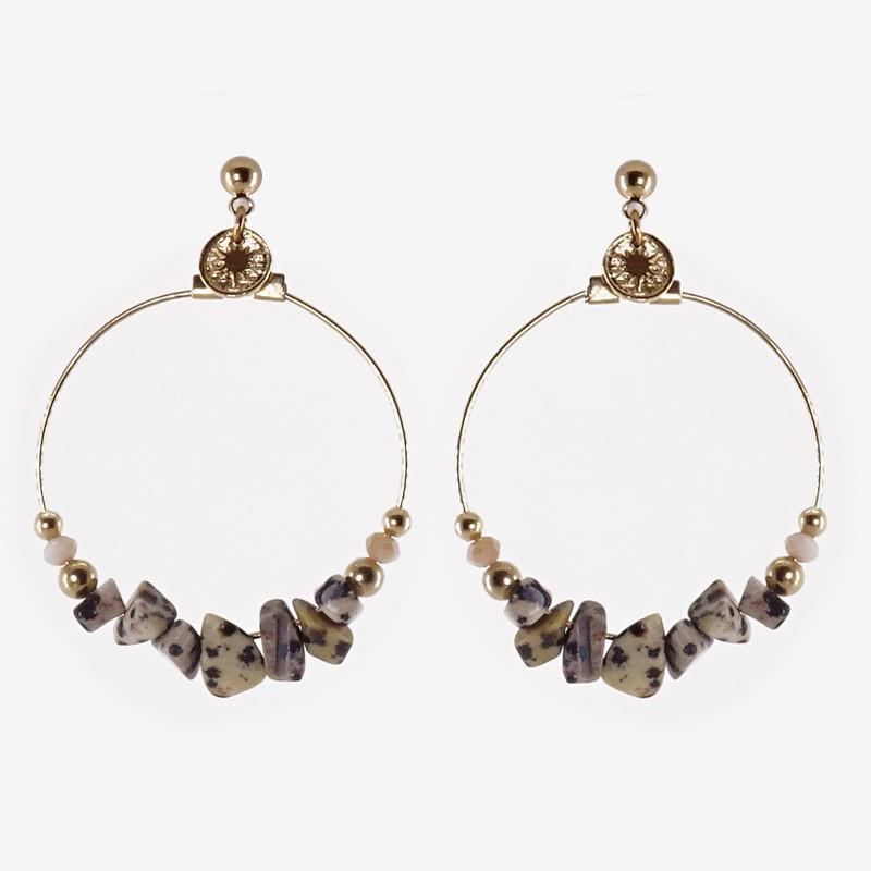gemstone hoops earring chorange