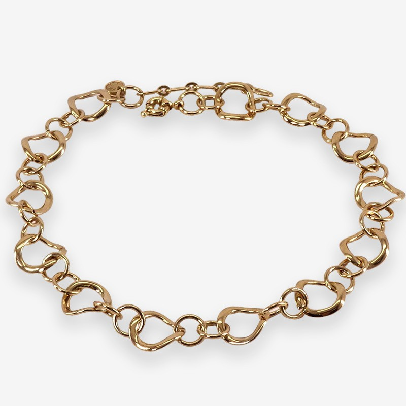 Chorange necklace plated gold, french designer of fashion jewellery made in France