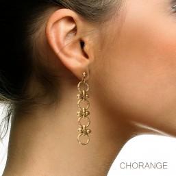 boucle d'oreille métal doré bijou fantaisie chorange