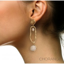 earring pendant gold color chorange fashion jewellery