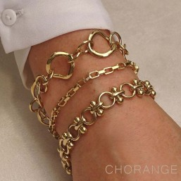gold plated Bracelet by Chorange, french designer of fashion jewellery made in France