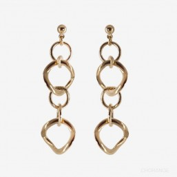 metal earring gold plated by Chorange fashion jewelry