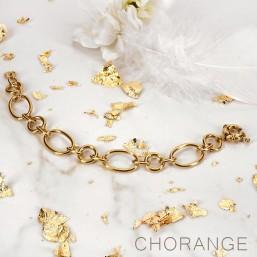 bracelet chorange chaine maille  dorée bijoux fantaisie de créateur
