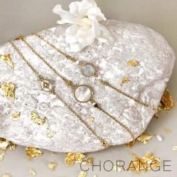 MOP and metal bracelets produce in France by Chorange designer of costume jewellerys