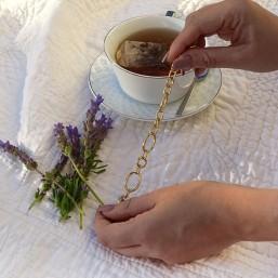 bracelet OVOL chorange chaine maille  dorée bijoux fantaisie de créateur