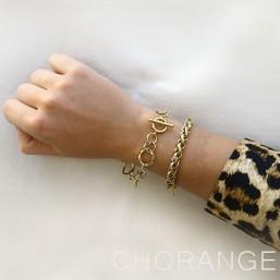 Bracelet festival chaine or Chorange créateur de bijoux fantaisie