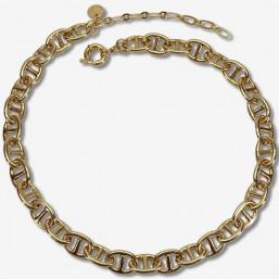 collier maille marine classic et fantaisie plaque or fin ou argent par chorange createur de bijoux fabtaisie