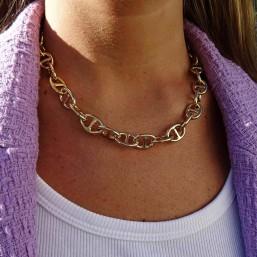 collier maille marine classic et fantaisie plaque or fin par chorange createur de bijoux fantaisie