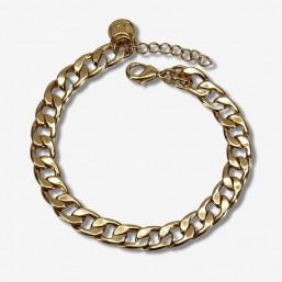 bracelet en finition plaque argent 925 maille gourmette par chorange createur de bijoux