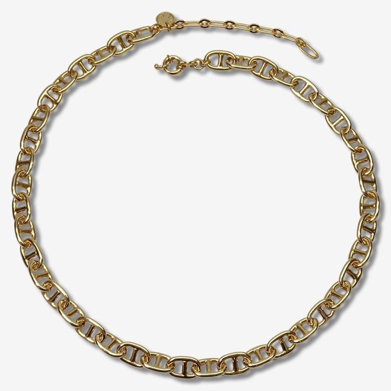 collier finition doré à l'or fin maille marine par Chorange bijoux