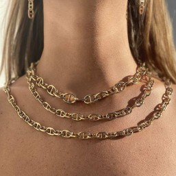 Necklace size 60cm plated in France with fine gold 24 carats Our jewels are nickel free