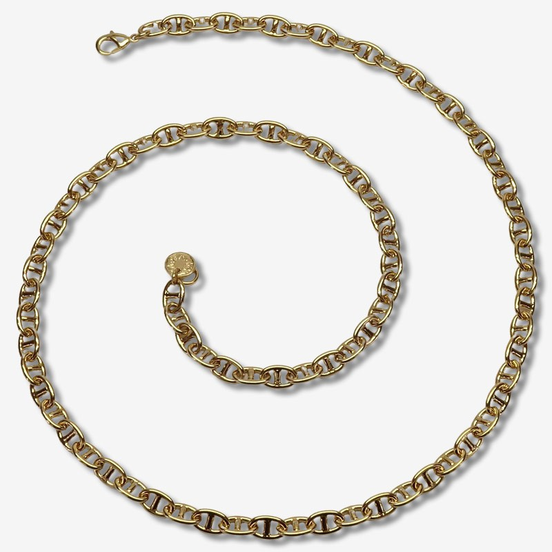 Necklace size 60cm coffe chain This jewellery is plated in France with fine gold 24 carats