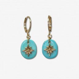 This earring is plated real gold 24 carats