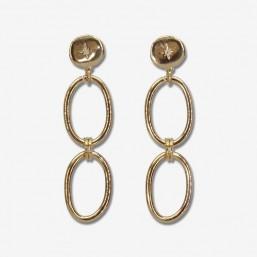 gold plated chainhoop earrings  Costume jewelry as elegant as poetic