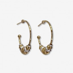 Hoop earring ring -this fashion jewellery is plated with fin gold -made in France