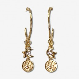 gold hoops earring made in France-cannes-wholesale