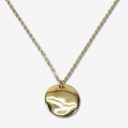 collier fantaisie en métal plaqué or fin