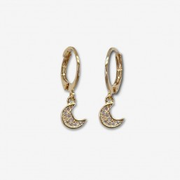 hoops earrings plated gold chorange