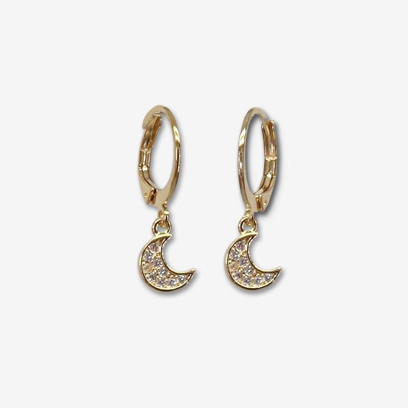 hoops earrings plated gold chorange