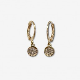 hoops earrings plated gold